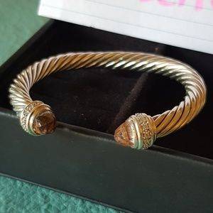 David Yurman Morganite Diamond 7mm Bracelet